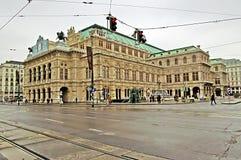Building of Vienna State Opera House, Austria Royalty Free Stock Photos