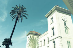 Building with wall art in Cannes, France. Royalty Free Stock Images