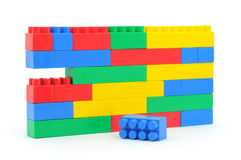 Building a wall from blocks Royalty Free Stock Photos