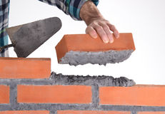 Building a wall. Stock Photos