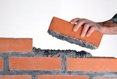 Building a wall. Royalty Free Stock Photography