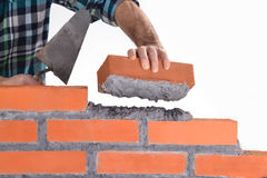 Building a wall. Royalty Free Stock Images