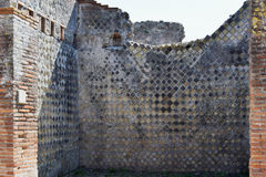 Building Walls, Pompeii Archaeological Site, nr Mount Vesuvius, Italy Stock Photography