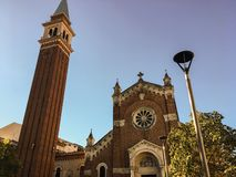 The church was the first in Verona to be built outside the city walls, hence the name `San Giuseppe fuori le mura` royalty free stock image