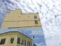 Old First National Bank Mural Grants Pass, Oregon Royalty Free Stock Photos