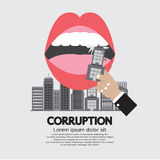 Building Was Eaten Corruption Concept. Royalty Free Stock Image