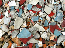 Building wastes close-up Royalty Free Stock Image