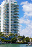 Building at the water edge in Miami Beach. Stock Photography