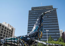 Building a whale, downtown Reno, Nevada Stock Images