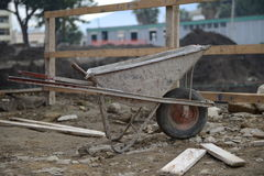 Building Wheelbarrow Royalty Free Stock Photography