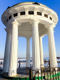 Building white columns in the classical style Stock Image