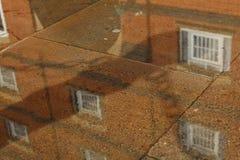 Reflection of window stock image