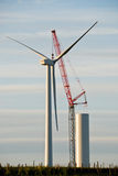Building Wind Turbine Royalty Free Stock Photography