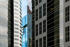 Building window reflection. Window reflection in modern office building Royalty Free Stock Images