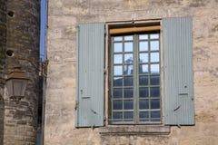 Building Window, Uzes, Provence, France. Building Window in Uzes, Provence, France, Europe Stock Images