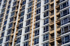 Building windows. Exterior details of windows in builing Stock Image
