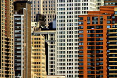 Building Windows abstract composition Royalty Free Stock Image