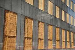 Building Windows all Boarded Up royalty free stock images