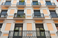 Building with windows and balconies Stock Photo