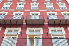 Building with windows and balconies Stock Photography