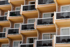 Building windows with balconies Royalty Free Stock Images