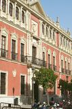 Building windows in city of Sevilla, Andalucia, Southern Spain Royalty Free Stock Photos