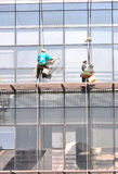 Building windows cleaning Stock Photos