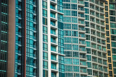 Building and windows pattern Royalty Free Stock Photos