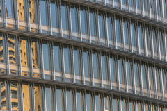 Building windows reflecting sky Royalty Free Stock Photography