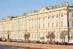 Building of the Winter Palace and the Hermitage Museum Stock Images