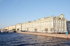 Building of the Winter Palace and the Hermitage Museum. In St. Petersburg, Russia Royalty Free Stock Images