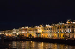 The building of the Winter Palace (Hermitage) at night, St. Petersburg Royalty Free Stock Photo