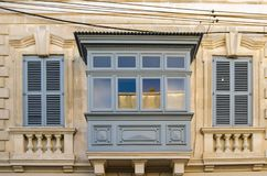 Free Building With Traditional Maltese Balcony In Historical Part Of Mosta. Window On The Facade Of A House In Malta Royalty Free Stock Photo - 135172255