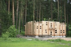Building in wood. Royalty Free Stock Images