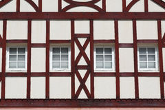 Building with wooden beams Stock Photo