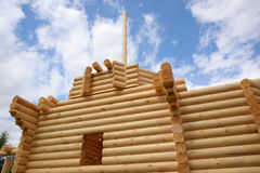 Building wooden chapel Stock Image