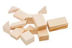 Building from wooden childrens blocks Stock Photo
