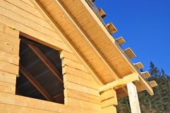 Building of the wooden house. Stock Photography