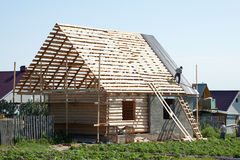 Building  wooden house Royalty Free Stock Images