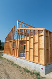 Building a wooden house Royalty Free Stock Images