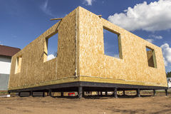 Building wooden houses Stock Image