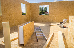 Building wooden houses Royalty Free Stock Images