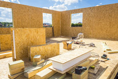 Building wooden houses Stock Photography