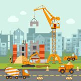 Building Work Illustration Royalty Free Stock Photography
