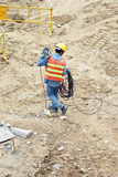 Building worker at the building Royalty Free Stock Images