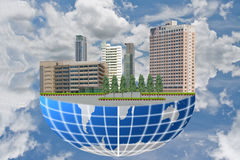 The building on the world. Stock Photos
