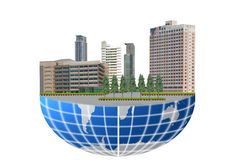The building on the world. Royalty Free Stock Photography