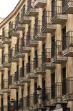 Building with wrought iron balconies,. In Salamanca , Spain royalty free stock photo