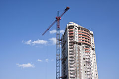 Building yard. With construction crane Royalty Free Stock Photo