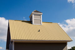Building with yellow roof Stock Photos